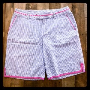 Lilly Pulitzer Bermuda Shorts. Blue/white stripe